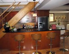 bars under staircase - Bing images