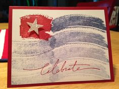 Work of Art Flag by missblubug - Cards and Paper Crafts at Splitcoaststampers