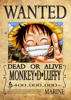 Wanted One Piece, One Piece Birthdays, One Piece Bounties, One Piece Photos, Manga Anime One Piece, One Piece Luffy, Monkey D Luffy, Animes Wallpapers, Anime Characters