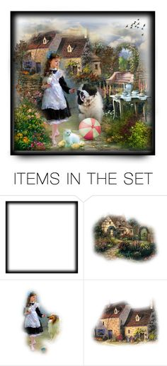 """""""A Old Sweet Memory :)"""" by mari-777 ❤ liked on Polyvore featuring art, country, animals, child, countryside and memory"""