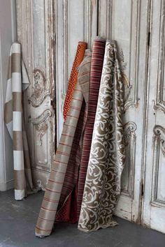 Metro is a collection of five coordinating jacquard velvet patterns, suitable for drapes and furniture applications, including contract.