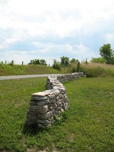 field stone wall