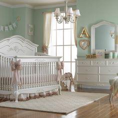Captivating Dolce Babi Angelina 2 Piece Nursery Set   Crib And Double Dresser