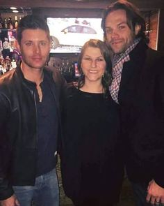 Old picture of Jensen and Jared with a fan in #Nashville from last year . . . Cr: FB: MarleeTaylor