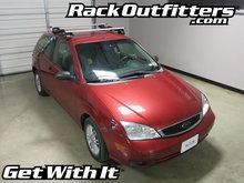 Ford Focus Thule Rapid Traverse SILVER AeroBlade Roof Rack '00-'07