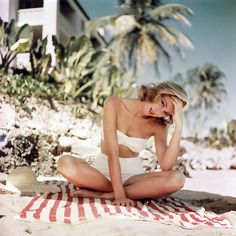 Grace Kelly in Montego Bay, Jamaica in 1955. Photo by Howell Conant.