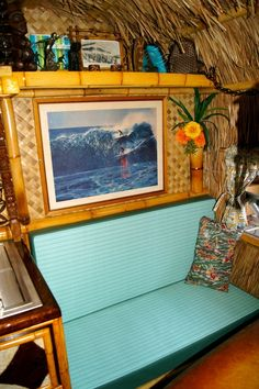 Tiki camper walls....More Bamboo/Rattan vs. grass which would be flammable ...Battery Candles and Tiki Torches
