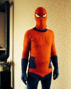 Self knitted incredible spiderman