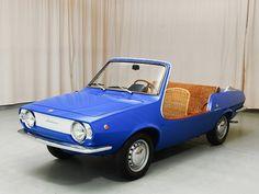 The 1969 Fiat 'Shellette' beach / leisure car designed by Giovanni Michelotti. Only about 80 were ever produced. Fiat 850, Fiat Abarth, Maserati, Ferrari, Automobile, Beach Cars, Fiat Cars, Cabriolet, Unique Cars