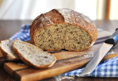 Whole wheat seed bread - with overnight rising and baked in  a dutch oven.