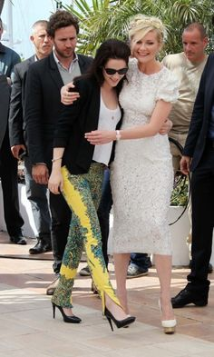 "Kristen Stewart and Kirsten Dunst Photocall of the movie ""On The Road"" at the 65th Cannes Film Festival."