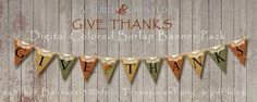 DIYGive Thanks Colored Burlap Banner by Captured and Created on @creativemarket