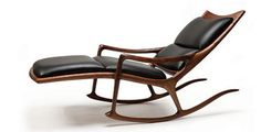 Mid-century rocker by Studio Furniture pioneer Sam Maloof. Sam Maloof, Fine Furniture, Wood Furniture, Furniture Design, Studio Furniture, Handmade Furniture, Custom Furniture, Dwell On Design, Woodworking Inspiration