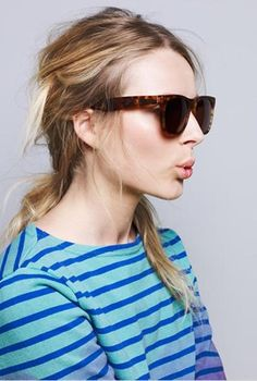 hair and sunglasses