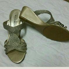 Bandolino Gold Wedges Nice pair, minimal wear. Bandolino Shoes Wedges