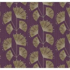 Pure Art Deco Floral Trail Purple Soft Taupe Gold Wallpaper 923019 by Grandeco per rol Art Deco Wallpaper Uk, Metallic Wallpaper, Luxury Wallpaper, Purple Art, Art Deco Furniture, Art Deco Design, Art Deco Fashion, Decoration, Vintage Art