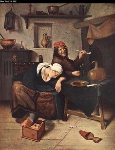 The Drinker, by Jan Steen (Dutch, 1626-1679).