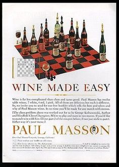 1961 paul #masson wine #george #koltanowski chess puzzle photo print ad,  View more on the LINK: 	http://www.zeppy.io/product/gb/2/361476815771/
