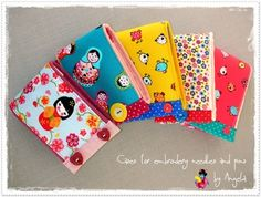 Embroidery and Pins Small Case, Knitting Needles, Cases, Embroidery, Sewing, Crochet, Handmade, Needlepoint, Dressmaking