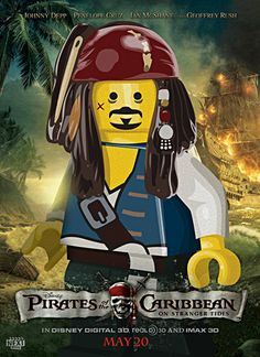 Pirates of the Caribbean Lego poster