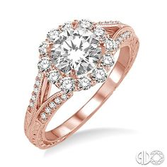 Nancy & Co. Fine Jewelers: Beautiful pink gold engagement ring