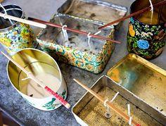 Candle making (I need to start finding fun metal tins)