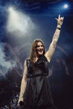 Floor Jansen, Nightwish. The Coliseum, Hard Rock Hotel, Singapore 18.01.2016