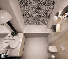 Mieszkanie z patchworkiem w Krakowie - Łazienka, styl skandynawski - zdjęcie od STABRAWA.PL - pozytywny design