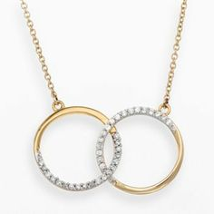 JLove by Jennifer Lopez 10k Gold 1/4-ct. T.W. Diamond Circle Necklace