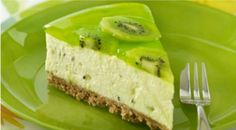 No Bake Kiwi Fruit Cheesecake