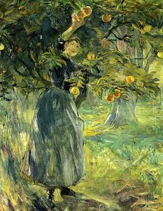 The Orange Picker Berthe Morisot - 1889