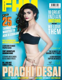 Prachi Desai on The Cover of FHM Magazine August 2013.