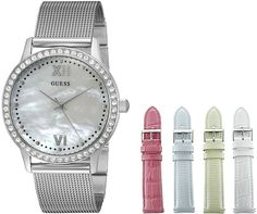 GUESS Women's U0785L1 Interchangeable Wardrobe Watch Set with Beautiful Accessory Box -- Check this awesome watch by going to the link at the image.