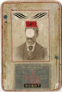 Mister Robot, 2010, mixed media collage, Angelica Paez