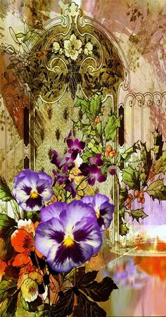 PAINTING_Flower Design_Digital Print_2   Blisse Design Studio