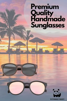 Check out our Premium Handmade Sunglasses. They are made from Natural Materials for a sleek, but sustainable look. Look Great this Summer! Sustainable Looks, Sustainable Fashion, Fiji, Natural Materials, Sustainability, Looks Great, Eco Friendly, Shades, Sunglasses