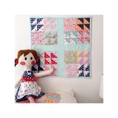 Today Erin of @whynotsewquilts  has a sweet little Hope Chest 2 doll quilt project to share with us. She even made a doll to match out of our wool solids! Very cute  Don't you think? #pennyrosefabrics #ilovepennyrose #miniquilt #dollquilt #quilt #quilting #wool #doll #handmade