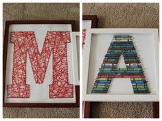 framed letters