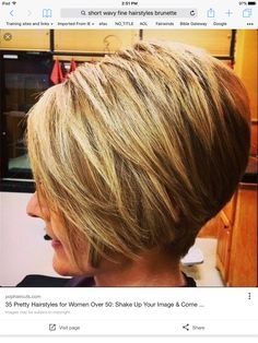 Inverted Bob Haircuts for Women In 2020 Short Layered Inverted Bob Hairstyles Of 96 Best Inverted Bob Haircuts for Women In 2020 Easy Short Haircuts, Short Hairstyles For Thick Hair, Haircut For Thick Hair, Short Straight Hair, Short Hair Cuts For Women, Short Hair Styles, Popular Haircuts, Haircut Bob, Stacked Hairstyles