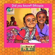 48% of the 102m Ethiopians are children. 18% of those children drop out of school in grade 1. Many girls are still subject to teenage marriage. On a positive note, primary school enrollment has tripled in the past 15 years. Education of girls is the key to a brighter future for Ethiopia. School Enrollment, Fun Facts For Kids, Children's Picture Books, Amazing Adventures, Primary School, Book Illustration, Grade 1, 15 Years, Ethiopia