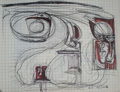 Automatic Drawing #2 E. Moo Young - 2001