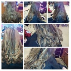 Before and after highlights and color retouch