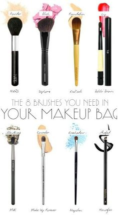 8 Makeup Brushes YOU Need!-  Head over to Pampadour.com for more beauty guides! Pampadour.com is a community of beauty bloggers, professionals, brands and beauty enthusiasts! #makeup #howto #tutorial #beauty #guide #iron #cosmetics #beautiful #pretty #love #pampadour #brush #brushes #guide