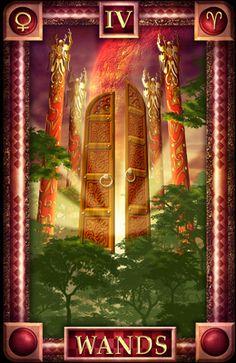 - Tarot of Dreams - Wands 4