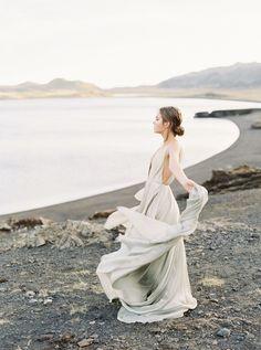Beach Wedding Photos Light Versus Dark: An Emotional Icelandic Bridal Session - Bride Portrait, Wedding Portraits, Wedding Photos, Wedding Photo Inspiration, Portrait Inspiration, Shotting Photo, Bridal Session, Bridal Shoot, London Wedding