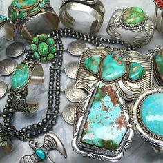 Just back from Arizona today unpacking these amazing Navajo pieces and straight into the store - great spending time with the Native American Indian artists - so talented from www.jessiewestern.com#jessiewestern#navajo#turquoise#turquoisejewellery#boho#vogue#bohemian #fashion #stylist