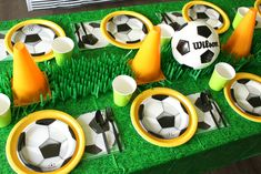 Are you a football lover? Do you have a special football club you support? Would you like to have a party themed with your favorite football club? Soccer Birthday Parties, Birthday Themes For Boys, Soccer Party, Third Birthday, Birthday Party Themes, Soccer Banquet, Sports Birthday, Birthday Supplies, Birthday Ideas