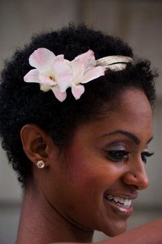 african american natural wedding hair twa