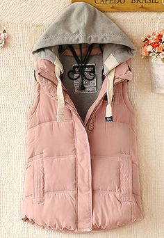 Warm Leisure Hooded Women's Vest