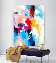 Extra large wall art on canvas original abstract paintings etsy. Large Abstract Wall Art, Contemporary Abstract Art, Abstract Canvas, Canvas Wall Art, Wall Art Prints, Abstract Paintings, Art Paintings, Modern Art, Pink Abstract